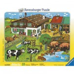 Ravensburger-06618 Jigsaw Puzzle - 33 Pieces - Animals and their Families