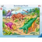 Ravensburger-06635 Frame Jigsaw Puzzle - Dinosaurs