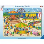 Ravensburger-06636 Frame Jigsaw Puzzle - At the Carnival