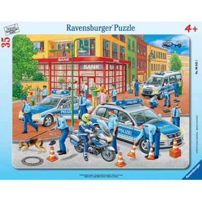 Ravensburger-06642 Frame Puzzle - Police Intervention