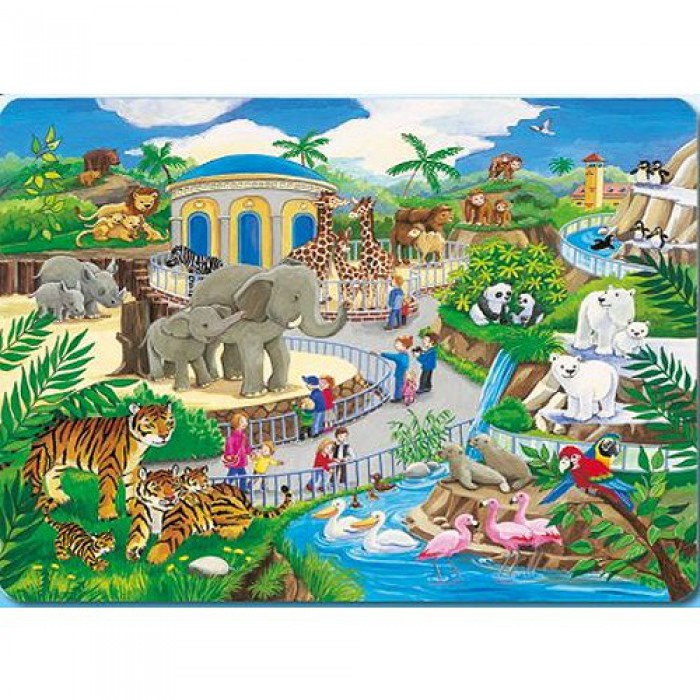 Jigsaw Puzzle - 45 Pieces - At the Zoo