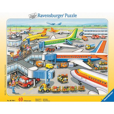 Ravensburger-06700 Jigsaw Puzzle - 40 Pieces - Airport : Boarding Area