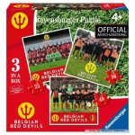 Ravensburger-06852 3 Jigsaw Puzzles - Belgian Red Devils 2016