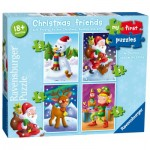 Ravensburger-06854 4 Jigsaw Puzzles - My First Puzzles - Christmas Friends