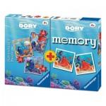 Ravensburger-06871 3 Jigsaw Puzzles Dory + Memory