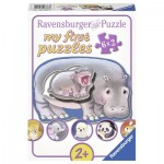 Ravensburger-06883 My First Puzzle - Hello Animal Babies!
