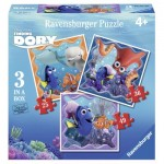 Ravensburger-06884 3 Jigsaw Puzzles - Finding Dory