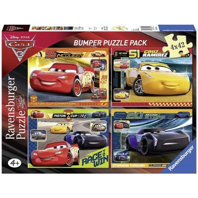 Puzzle Ravensburger-06890 Disney - Cars 3 (4 x 42 Pieces)