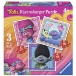Ravensburger-06899 3 Jigsaw Puzzles - Trolls