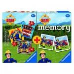 Ravensburger-06910 3 Puzzles + Memory - Fireman Sam