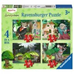 Ravensburger-06939 4 Puzzles - On the Way in the Fairytale Forest