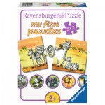 Ravensburger-06943 9 Puzzles - Cute Animal Families