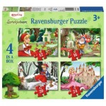 Ravensburger-06945 4 Puzzles - Enchanting Fairytale Forest