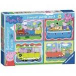 Ravensburger-06949 4 Puzzles - Peppa Pig