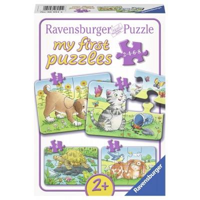 Ravensburger-06951 4 Jigsaw Puzzles - Cute Pets