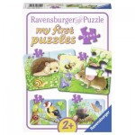 Ravensburger-06952 4 Jigsaw Puzzles - Sweet Gardeners