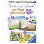 Ravensburger-06953 4 Jigsaw Puzzles - Farm Animals