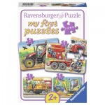 Ravensburger-06954 4 Jigsaw Puzzles - At Work