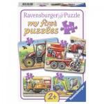 Ravensburger-06954 4 Jigsaw Puzzles - At Work