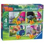 Ravensburger-06972 4 Puzzles - Trolls