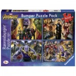 Ravensburger-06994 Bumper Pack 4 Puzzles - Avengers Infinity War