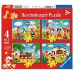 Ravensburger-06997 4 Puzzles - Jokie