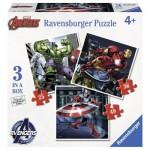 Ravensburger-07004 3 Jigsaw Puzzles - Avengers