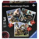 Ravensburger-07005 3 Jigsaw Puzzles - Dragons