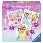 Ravensburger-07008 3 Jigsaw Puzzles - Disney Princess