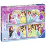 Ravensburger-07011 4 Jigsaw Puzzles - Disney Princess