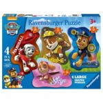 Ravensburger-07032 4 Jigsaw Puzzles - Paw Patrol