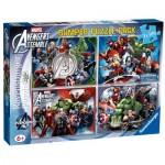 Ravensburger-07076 4 Jigsaw Puzzles - Marvel
