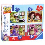 Ravensburger-07108 4 Jigsaw Puzzles - Toy Story