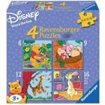 Ravensburger-07123 4 Jigsaw Puzzles - Winnie Pooh