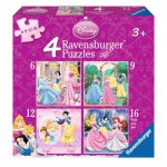 Ravensburger-07132 4 Jigsaw Puzzles - Disney Princess