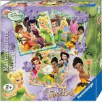 Ravensburger-07193 3 Jigsaw Puzzles - Disney Fairies