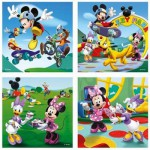 Ravensburger-07214 4 Jigsaw Puzzles - 25 and 36 Pieces : Mickey and his Friends are Playing