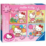 Ravensburger-07256 4 Jigsaw Puzzles - Hello Kitty