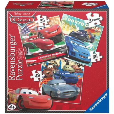 Ravensburger-07258 3 Puzzles - Cars
