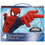Ravensburger-07262 4 Jigsaw Puzzles - Spiderman