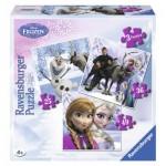 Ravensburger-07276 3 Jigsaw Puzzles - Frozen