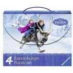 Ravensburger-07300 4 Jigsaw Puzzles - Frozen