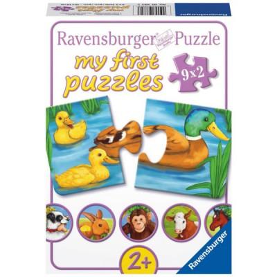 Ravensburger-07331 Jigsaw Puzzle - 9 x 2 Pieces - Adorable Animals