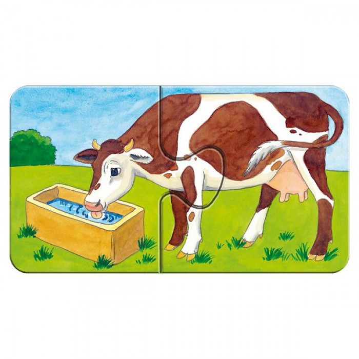 Jigsaw Puzzle - 9 x 2 Pieces - At the Farm