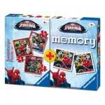 Ravensburger-07359 3 Jigsaw Puzzles Spiderman + Memory