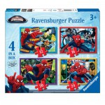 Ravensburger-07363 4 Jigsaw Puzzles - Spiderman