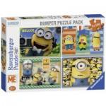 Ravensburger-07395 4 Jigsaw Puzzles - Minions