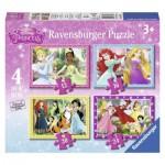 Ravensburger-07397 4 Jigsaw Puzzles - Disney Princess