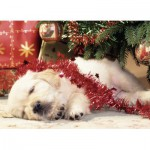 Puzzle  Ravensburger-07546 Christmas Puppy