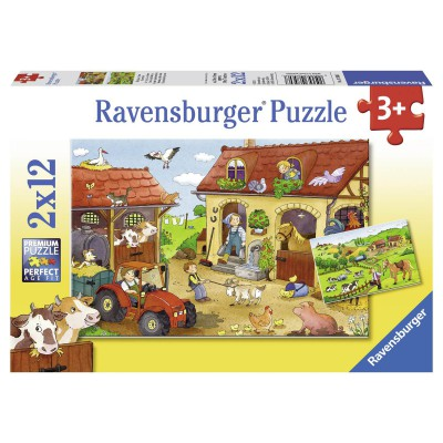 Ravensburger-07560 2 puzzles - Trades of the farm